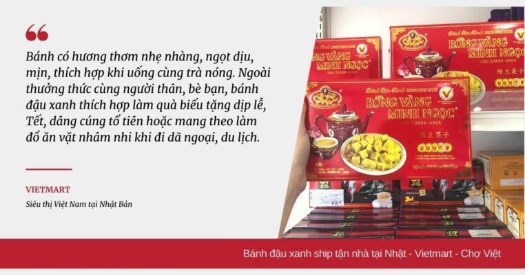 Bánh đậu xanh đặc sản Việt ở Nhật Vietmart Chợ Việt ở Nhật