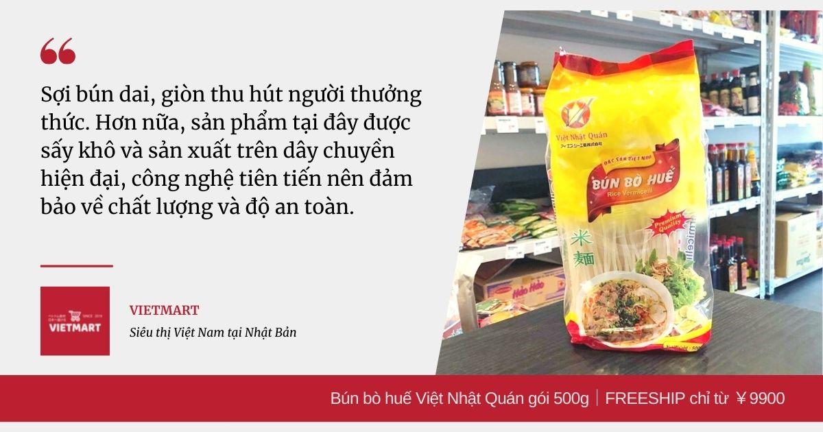 Bún bò huế Việt Nhật Quán gói 500g FREESHIP chỉ từ ¥9900