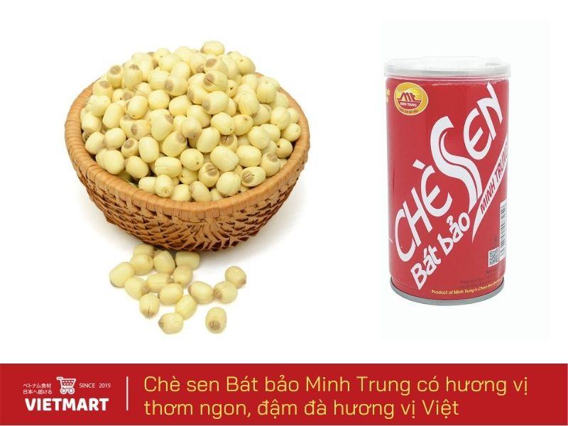 Chè sen Bát Bảo đóng lon tiện lợi, sử dụng được ngay - Vietmart - Chợ Việt Nam tại Nhật Bản