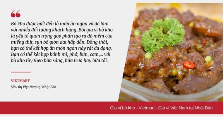 Gia vị bò kho - Vietmart - Gia vị Việt Nam tại Nhật Bản