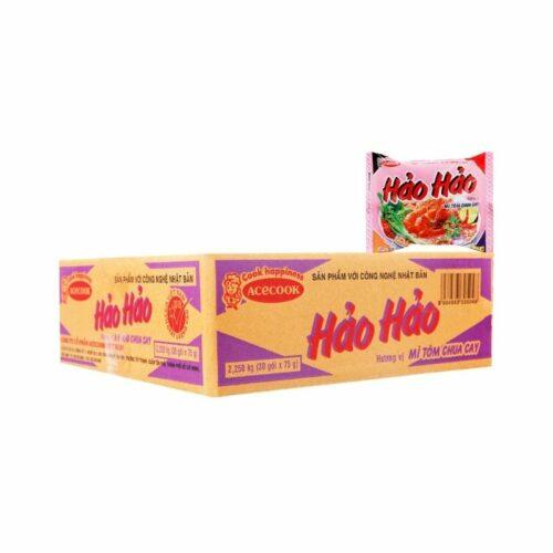 Thùng Mì hảo hảo chua cay 30 gói Thực phẩm Việt #1 tại Nhật