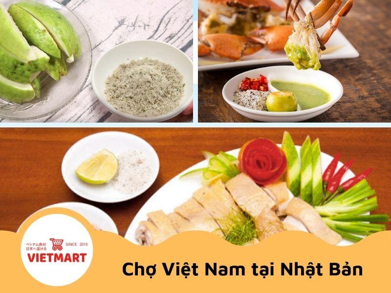 Muối tiêu chanh tiện lợi - Vietmart - chuyên gia vị Việt Nam tại Nhật Bản