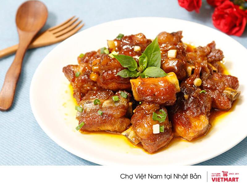 Nấu sườn xào chua ngọt với gói xốt sườn xào chua ngọt Barona - Vietmart - chợ Việt tại Nhật
