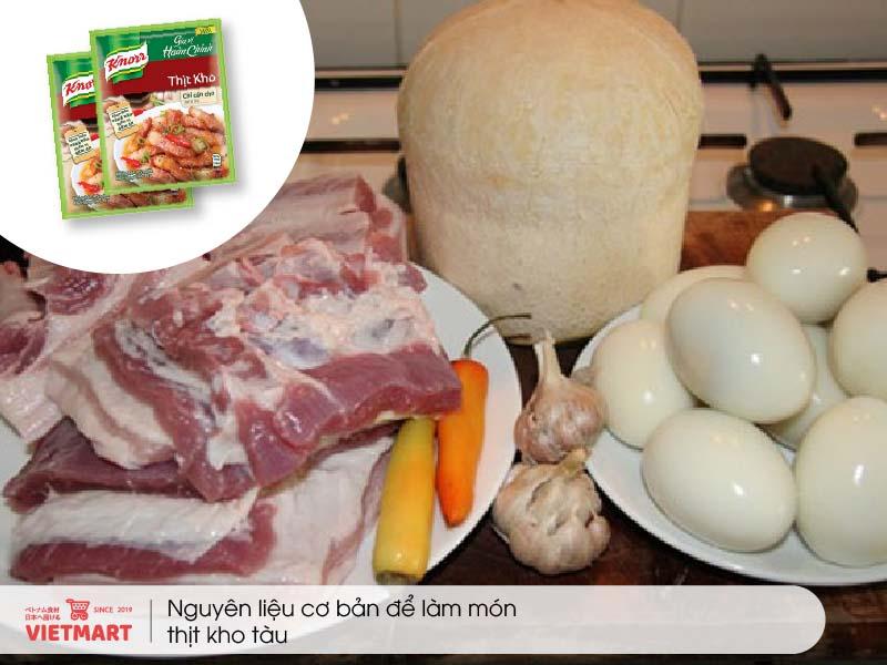Cách nấu Thịt Kho Tàu thơm ngon chuẩn vị với 4 bước đơn giản - Vietmart - Siêu thị thực phẩm Việt tại Nhật