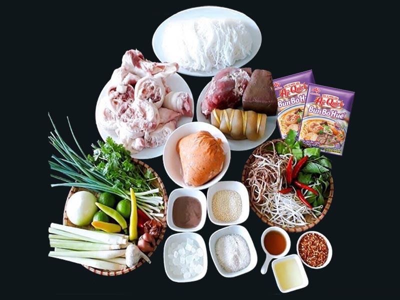 Nấu bún bò Huế đơn giản với Aji Quick Bún bò Huế - Vietmart - chợ thực phẩm và gia vị Việt Nam tại Nhật Bản