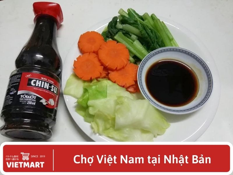 Nước tương Chinsu tỏi ớt - Vietmart - Gia vị Việt Nam tại Nhật Bản