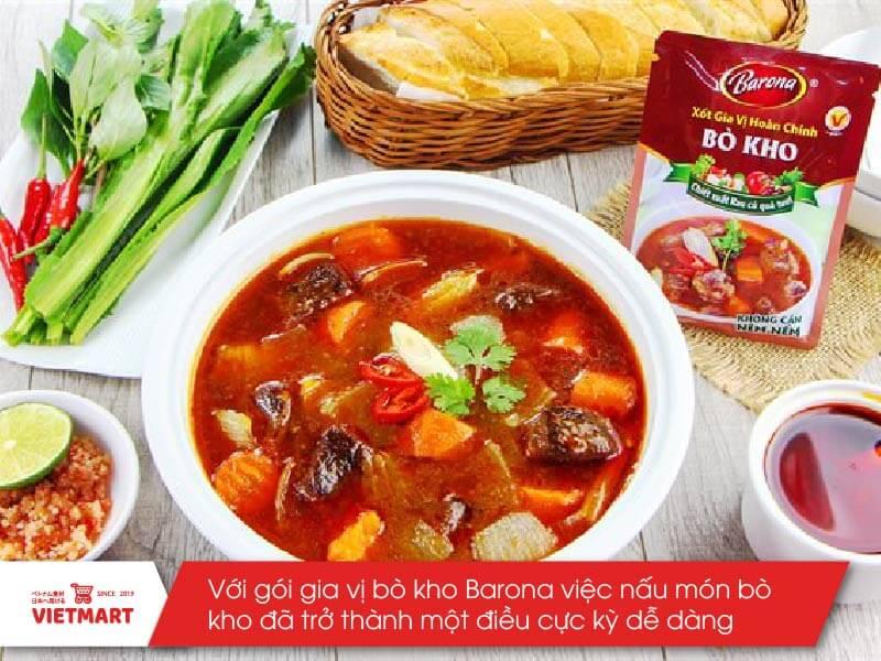 Sốt bò kho Barona - Vietmart - Chợ Việt Nam tại Nhật Bản
