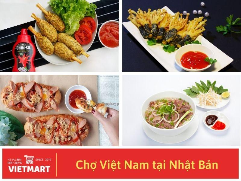 Tương ớt Chinsu là một trong những gia vị Việt Nam không thể thiếu trong mỗi căn bếp Việt - Vietmart - Chợ Việt Nam tại Nhật Bản