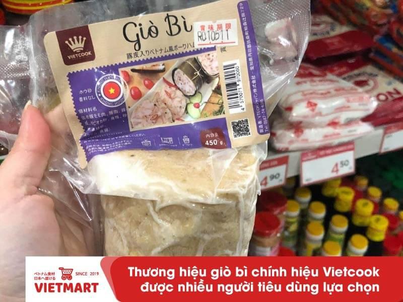 Giò bì Vietcook - Hàng Việt sản xuất tại Nhật - Vietmart - Chợ Việt Nam tại Nhật Bản