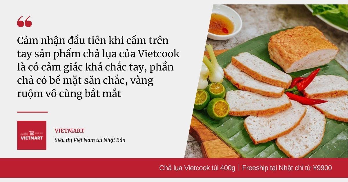 Chả lụa Vietcook túi 400g|Freeship tại Nhật chỉ từ ¥9900