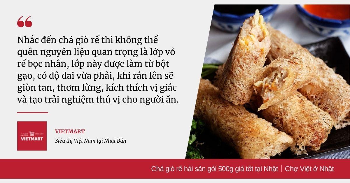 Chả giò rế hải sản gói 500g giá tốt tại Nhật|Chợ Việt ở Nhật