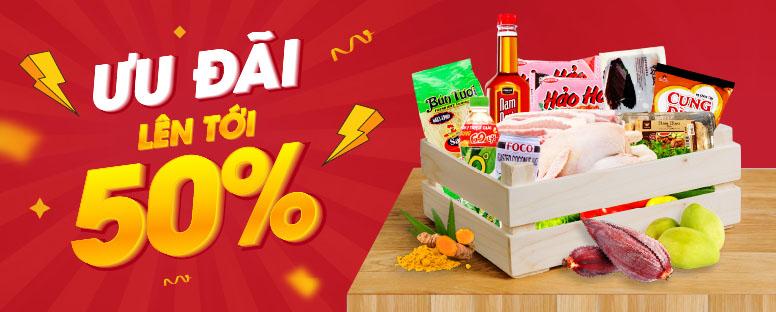 Chương trình giảm giá lên tới 50% - Vietmart - Chợ đồ Việt tại Nhật