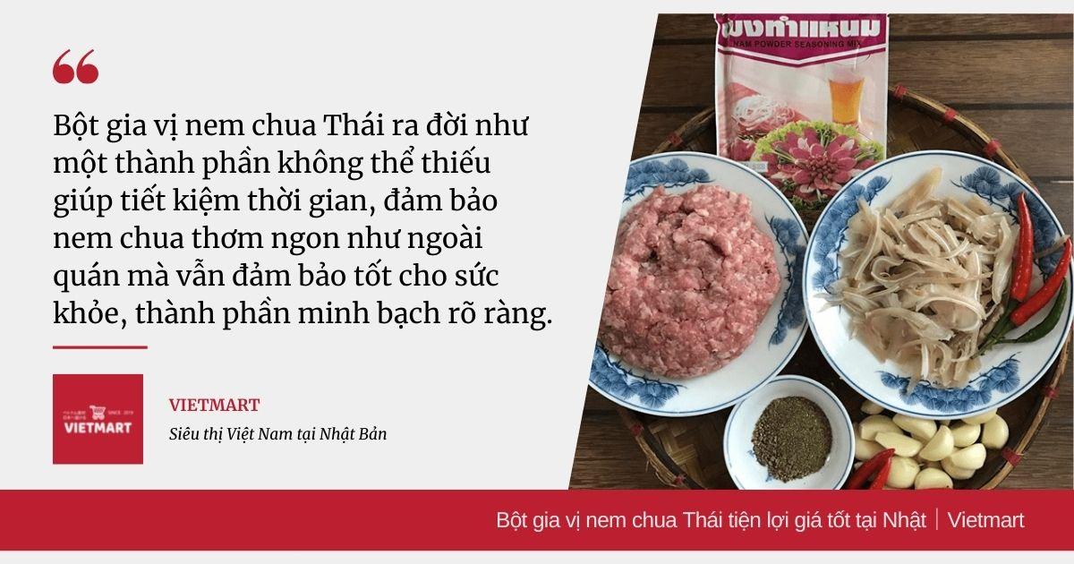 Bột gia vị nem chua Thái tiện lợi giá tốt tại Nhật|Vietmart