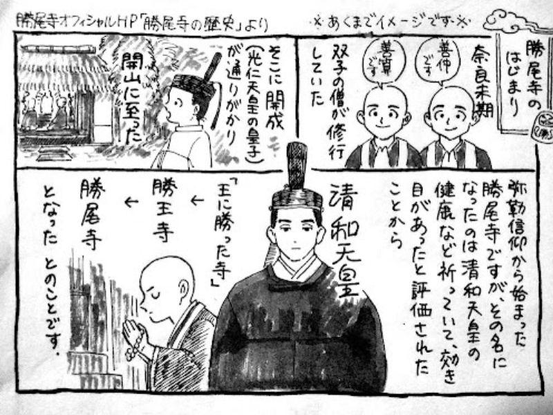 Lịch sử chùa Katsuoji