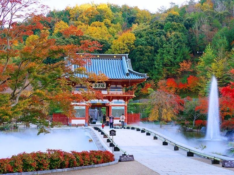 Chùa Katsuoji mùa lá đỏ